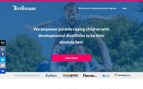 Screenshot of Home Page birdhousehq.com - Birdhouse Health | Caregiving Made Easier - captured April 14, 2019