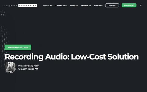Screenshot of Pricing Page thoughtindustries.com - Recording Audio: Low-Cost Solution - captured Jan. 11, 2020
