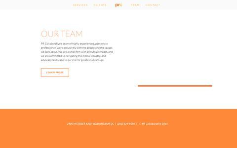 Screenshot of Team Page prcollaborative.com - Team Ń PR Collaborative - captured Dec. 6, 2015