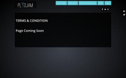 Screenshot of Terms Page plyojam.com - Terms & Condition - PlyoJam - captured Oct. 28, 2014