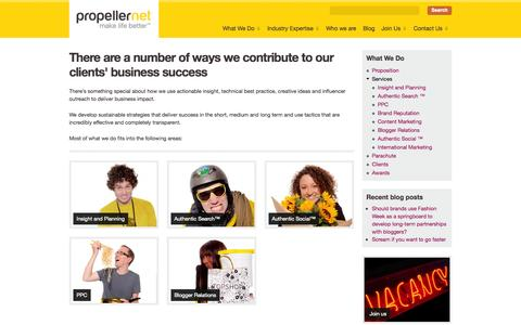 Screenshot of Services Page propellernet.co.uk - Search & Social Media Agency | SEO & PPC Services | Propellernet - captured Sept. 23, 2014