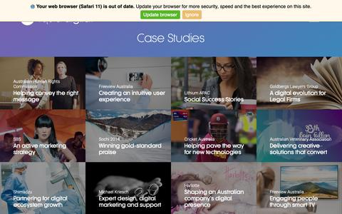 Screenshot of Case Studies Page liquid.digital - Case Studies Archive - Liquid Digital - captured Dec. 8, 2018