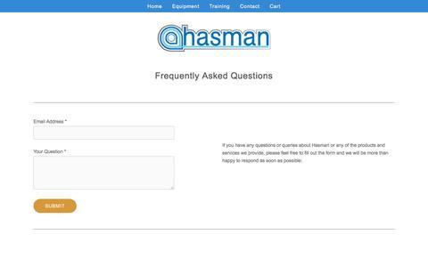 Screenshot of FAQ Page hasman.co.uk - FAQ - Hasman — Hasman - captured Jan. 26, 2016