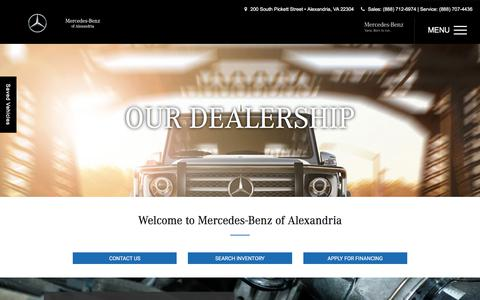 Screenshot of About Page mercedesalexandria.com - About Us Arlington   Mercedes-Benz of Alexandria - captured July 7, 2017