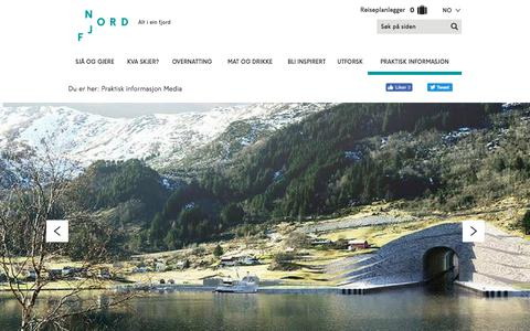 Screenshot of Press Page nordfjord.no - Media - Nordfjord - captured Oct. 12, 2017