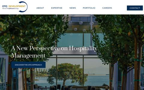 Screenshot of Home Page otodevelopment.com - OTO Hospitality Development Company and Hotel Management | Spartanburg SC - captured Aug. 1, 2019