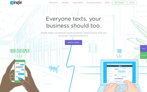 Business Text Messaging Solution | Zingle