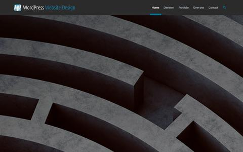 Screenshot of Home Page wordpress-website-design.nl - Wordpress en Joomla webdesign, hosting en onderhoud - captured Jan. 11, 2016