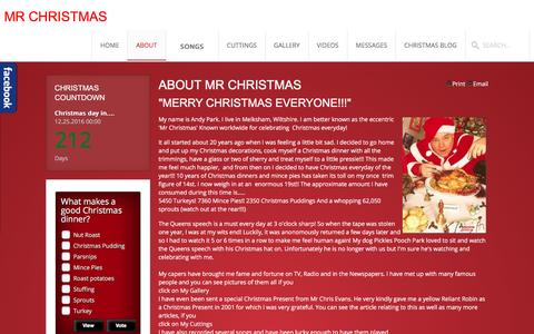 Screenshot of About Page mrchristmas.co.uk - Mr Christmas - About - captured May 26, 2016
