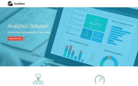 Screenshot of Landing Page gooddata.com - Demo Request | GoodData Platform - captured July 22, 2017