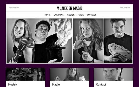 Screenshot of Home Page muziekenmagie.nl - Muziek en Magie - captured Aug. 16, 2015