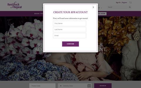 Screenshot of Signup Page rentfrockrepeat.com - Rent frock Repeat Designer Dress Rentals - captured Nov. 9, 2017