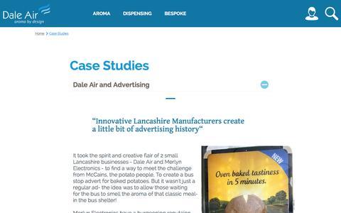 Screenshot of Case Studies Page daleair.com - Case Studies - captured Jan. 7, 2016
