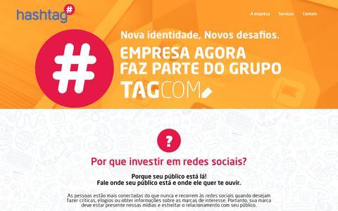 Screenshot of Home Page hashtag.ms - # hashtag | Social Media | Agência de Mídias Sociais - captured July 19, 2017