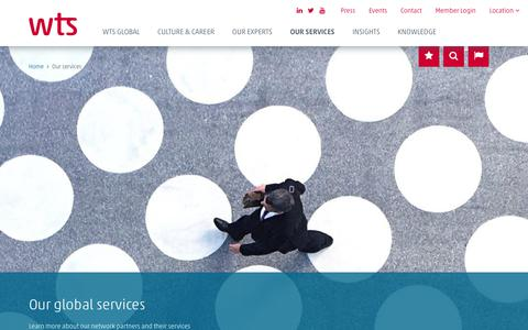 Screenshot of Services Page wts.com - Global Services | WTS Global - captured Jan. 25, 2018