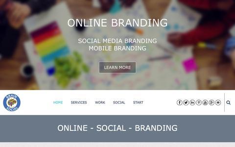 Screenshot of Home Page brainsocial.biz - BrainSocial - Online Social Branding - captured Jan. 7, 2016