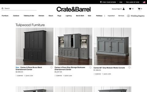Tulipwood Furniture   Crate and Barrel