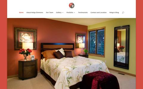 Screenshot of Home Page helgadesign.com - Helga Simmons Interior Design - captured Jan. 22, 2016