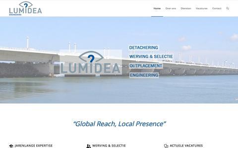Screenshot of Home Page lumidea.nl - Lumidea Engineering - Detachering, Werving en Selectie | - captured Sept. 17, 2015