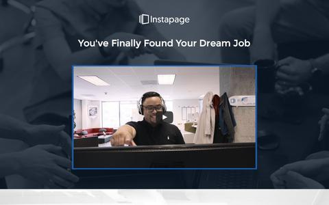 Screenshot of Jobs Page instapage.com - Jobs - captured July 25, 2016