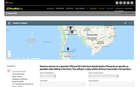 Screenshot of Contact Page easykart.net - Contact Us  –  EasyKart.net - captured Oct. 18, 2018