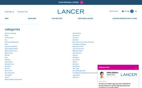 Screenshot of Site Map Page lancerskincare.com - Site Map - captured May 13, 2019