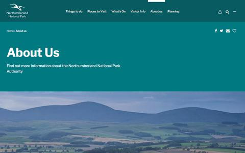 Screenshot of About Page northumberlandnationalpark.org.uk - About us • Northumberland National Park - captured Sept. 22, 2018