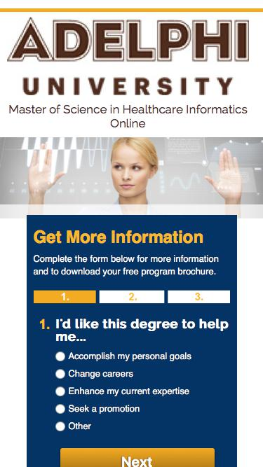 LP- Email-IA | Online MSHI Degree