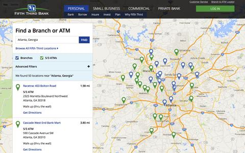 Find the nearest Fifth Third Bank location   Banking Services