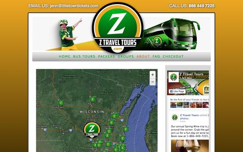 Screenshot of Locations Page ztraveltours.com - locations - Z Travel Tours - captured April 21, 2016