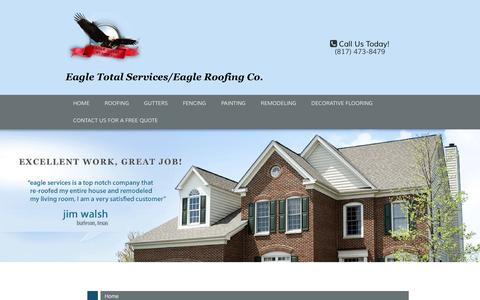Screenshot of Site Map Page eagleroofs.net - Eagle Total Services/Eagle Roofing Company - captured Oct. 19, 2016