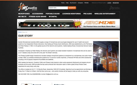 Screenshot of About Page fitnessaudio.net.au - About  Us - captured Oct. 6, 2014