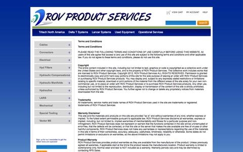 Screenshot of Terms Page rovproductservices.com - Terms - captured Sept. 30, 2014