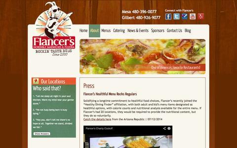 Screenshot of Press Page flancers.com - Flancer's Press | Flancer's - captured Sept. 22, 2014