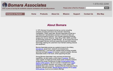 Screenshot of About Page bomara.com - Bomara Associates: Over 40 years of worldwide sales, service & support - captured Oct. 5, 2014