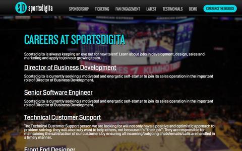 Screenshot of Jobs Page sportsdigita.com - Careers at Sportsdigita | Sportsdigita - captured Sept. 21, 2018