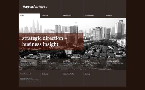 Screenshot of Home Page versapartners.com - Home - VersaPartners Limited - captured Nov. 29, 2016