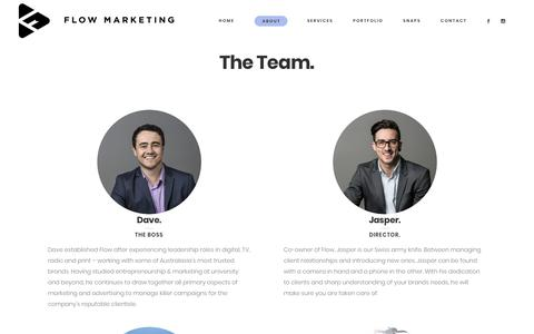 Screenshot of Team Page flow.co.nz - The Team. | Flow Marketing NZ - captured Oct. 10, 2017