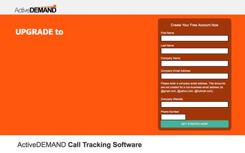 Screenshot of Landing Page activedemand.com - Get More From Your Call Tracking - C - captured May 11, 2018
