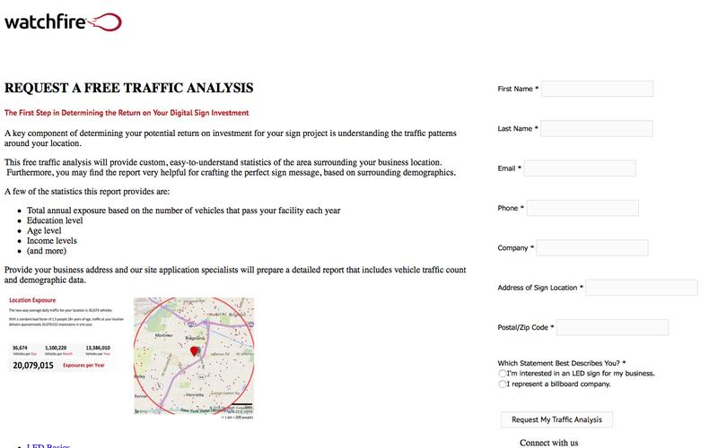 Request Your Traffic Analysis