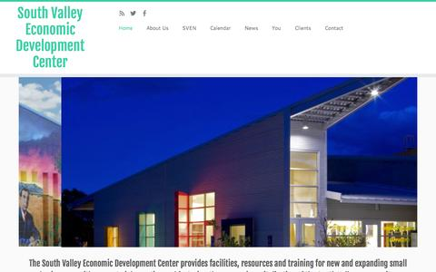 Screenshot of Home Page svedc.org - South Valley Economic Development Center - captured Aug. 15, 2015