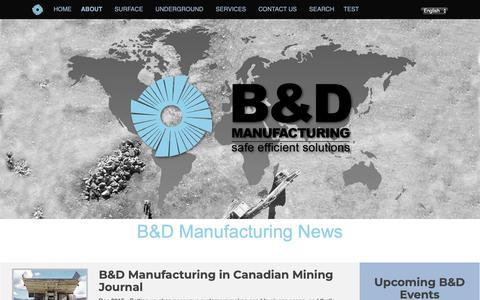 Screenshot of Press Page bdmfg.com - B & D Manufacturing News - captured Sept. 26, 2018