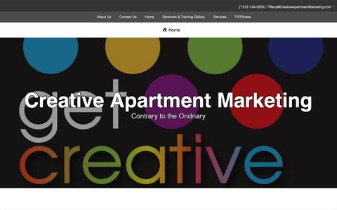 Screenshot of Home Page creativeapartmentmarketing.com - Creative Apartment Marketing – Contrary to the Oridnary - captured Nov. 5, 2018