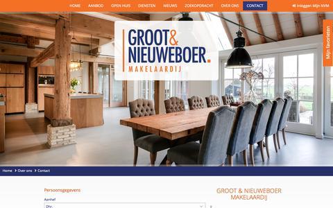 Screenshot of Contact Page grootnieuweboer.nl - Contact - Groot & Nieuweboer Makelaardij - captured Sept. 30, 2018