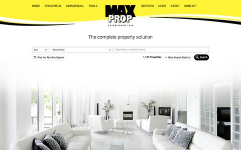 Screenshot of Home Page maxprop.co.za - The Complete Property Solution | Maxprop - captured Oct. 17, 2017