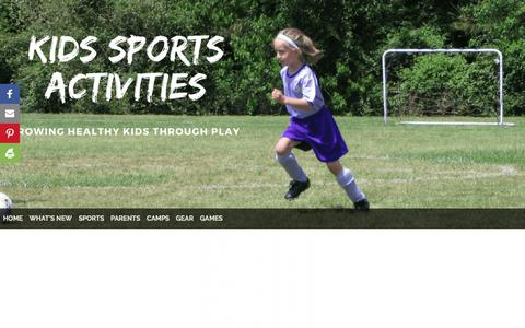 Screenshot of Home Page kids-sports-activities.com - Kids Sports Activities - captured Sept. 24, 2018