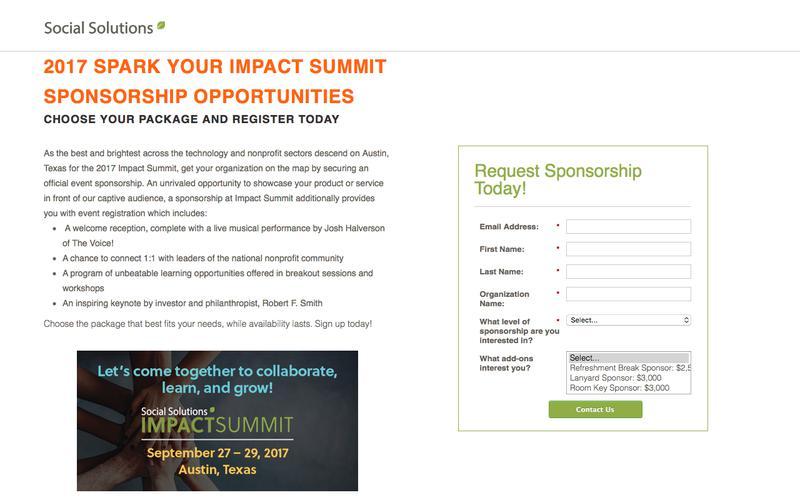 2017 Summit Sponsorship Registration