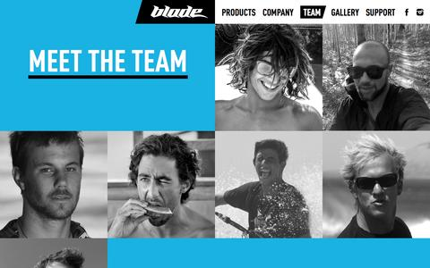 Screenshot of Team Page bladekites.com - Blade Team - captured Oct. 5, 2014