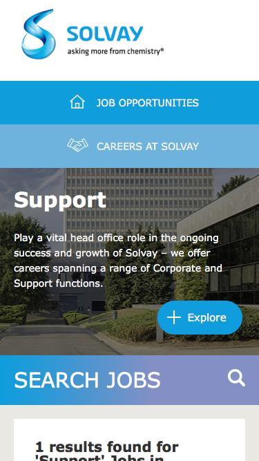 Screenshot of Jobs Page  solvay.com - Support Jobs in Bollate at Solvay   Careers at Solvay