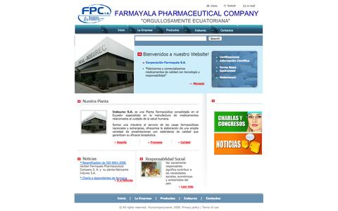 Screenshot of Home Page farmayala.com - Home - captured Oct. 3, 2014